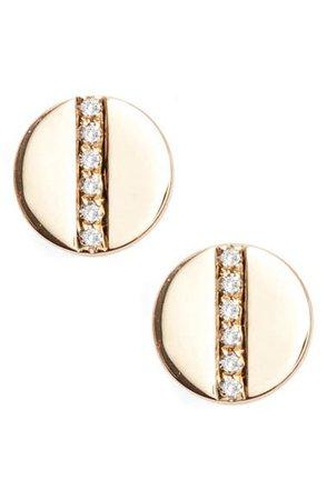 EF Collection Screw Diamond Stud Earrings | Nordstrom