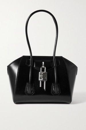Antigona Lock Small Leather Tote - Black