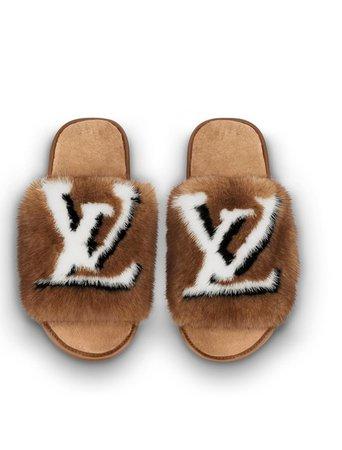 Louis Vuitton Naturel Beige Mink Mule 39-40 Flats Size US 10 Regular (M, B) - Tradesy