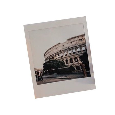polaroid of colosseum in italy