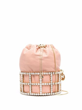 Shop Rosantica Rea crystal-embellished mini bag with Express Delivery - FARFETCH