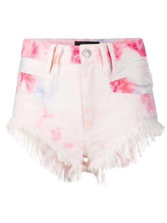 Isabel Marant Bleached Fringed Denim Shorts - Farfetch