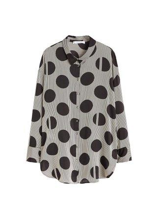 Violeta BY MANGO Mixed print shirt