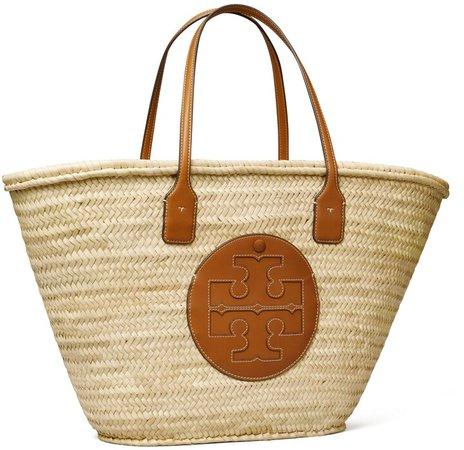 Ella Straw Basket Tote Bag
