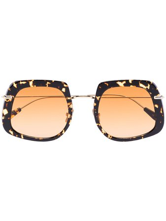 Kaleos Brown Barton Havana Square Sunglasses - Farfetch