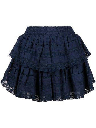 LoveShackFancy Ruffled Mini Skirt - Farfetch
