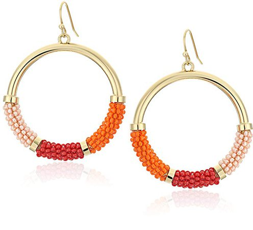 Amazon.com: kate spade new york Pink/Multicolored Hoop Earrings: Clothing