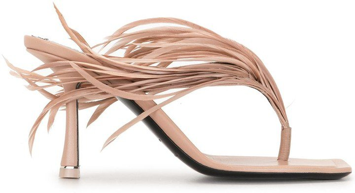 Ivy feather sandals
