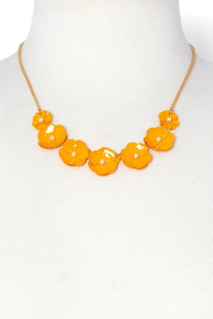 Lucky Floral Necklace | Charming Charlie