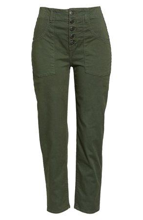 Veronica Beard Arya Crop Straight Leg Pants | Nordstrom