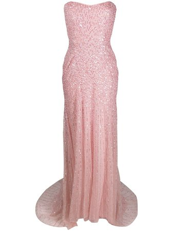 Jenny Packham sequin-embellished Strapless Gown - Farfetch