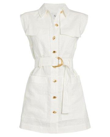 Aje | Belted Linen Shirt Dress | INTERMIX®