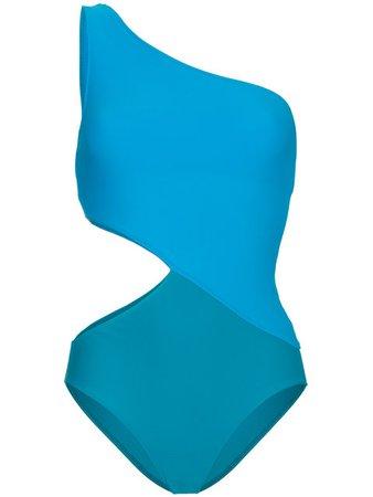 Araks Blue Elmar One Shoulder Cutout Swimsuit - Farfetch