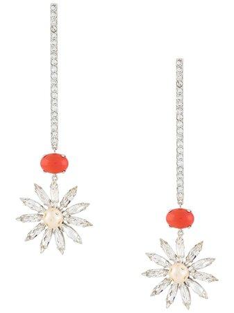 Paco Rabanne Floral Drop Earrings - Farfetch