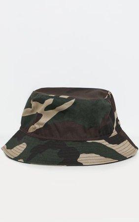 Khaki Camo Bucket Hat   Accessories   PrettyLittleThing
