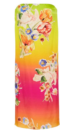 Zadie Floral Charmeuse Sarong Dress