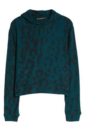 BLANKNYC Leopard Print Hoodie | Nordstrom