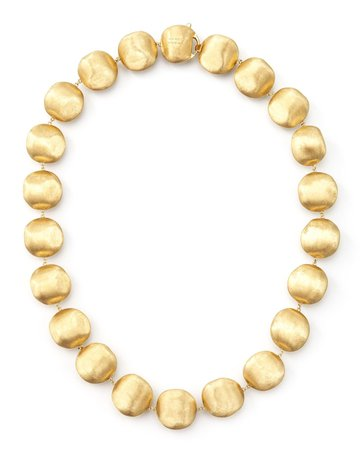 "Marco Bicego 17"" Africa Gold Medium Bead Necklace"