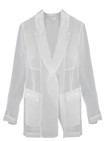 White Sheer Ailanto Jacket