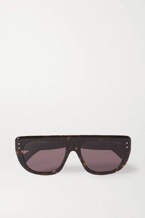 Brown D-frame tortoiseshell acetate sunglasses | Alaïa | NET-A-PORTER