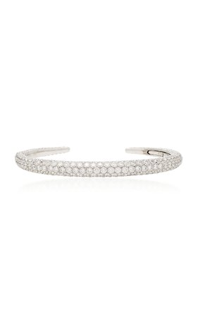 Busatti Piercing 18K White Gold And Diamond Bracelet