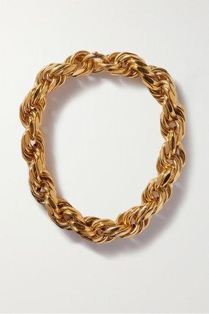 Gold Gold-tone necklace | Bottega Veneta | NET-A-PORTER