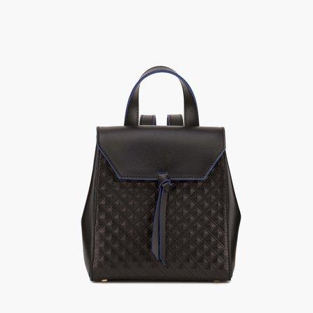 Bellagio Mini Backpack - Black Scudo — Alexandra de Curtis | Luxury Italian Leather Handbags, Purses, Ballet Flats & Accessories, Made in Rome