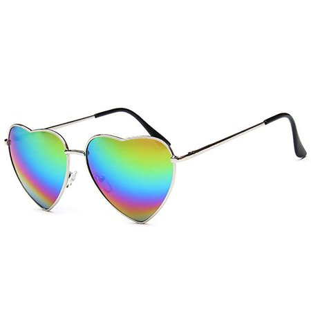 Rainbow Heart Sunglasses