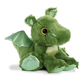 Green Stuffed Dragon Big Eyed Sparkle Tales Plush | Aurora | Stuffed Safari