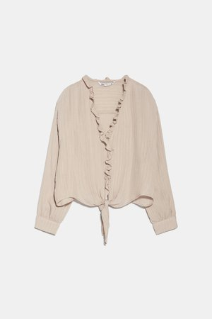 TEXTURED KNOTTED BLOUSE | ZARA United States