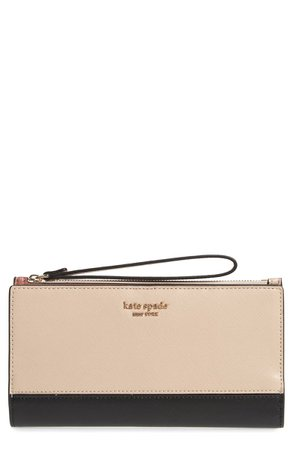 kate spade new york spencer continental leather wristlet | Nordstrom