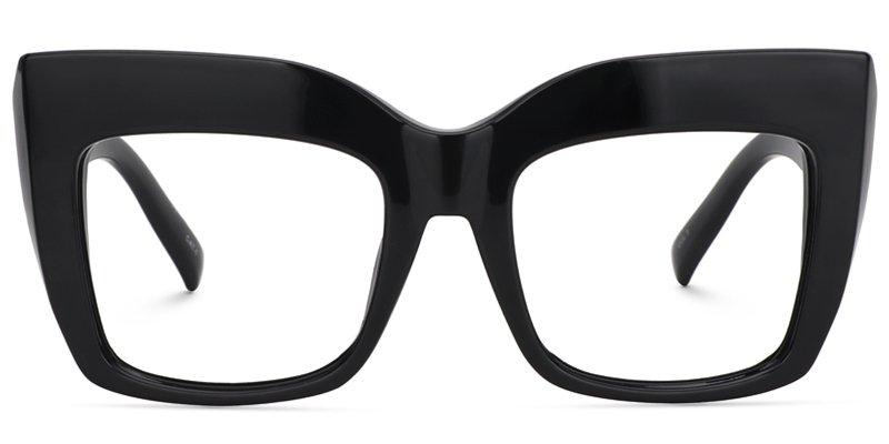 Alberta Cat Eye Black Glasses | Zeelool Optical