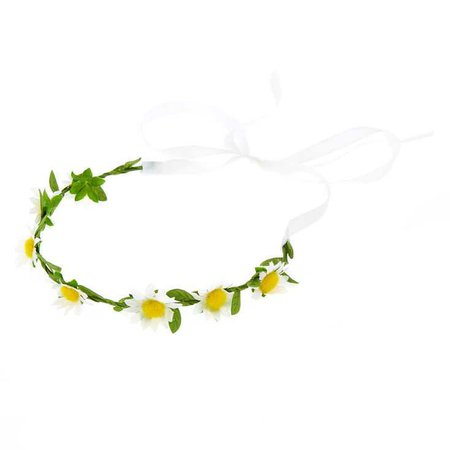 Claire's Club Flower Girl Daisy Flower Crown | Claire's US