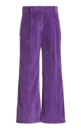 Cropped Corduroy Wide-Leg Trousers By Victoria Beckham   Moda Operandi