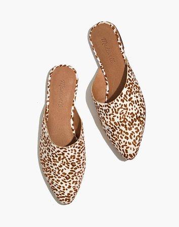 The Remi Mule in Mini Leopard Calf Hair