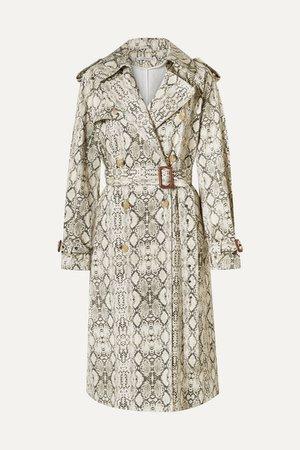 Les Rêveries   Snake-print cotton trench coat   NET-A-PORTER.COM
