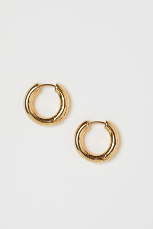 Gold-plated Earrings - Gold