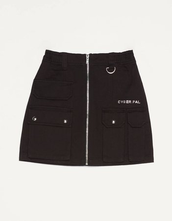 Short cargo skirt with zipper detail - Skirts - Bershka United States