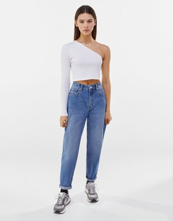 Mom jeans - Denim - Woman | Bershka