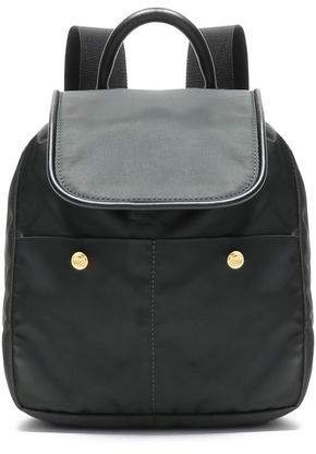 Swing Leather-trimmed Shell Backpack
