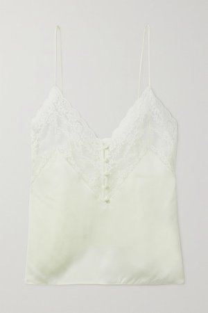 Lace And Silk-satin Camisole - Ivory