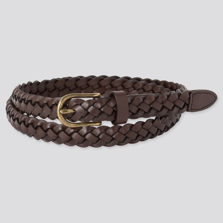 WOMEN MESH SKINNY BELT | UNIQLO US brown