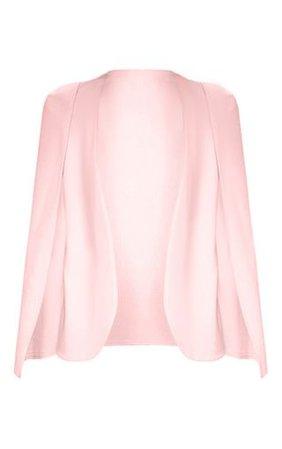 Pink Cape Blazer | Coats & Jackets | PrettyLittleThing
