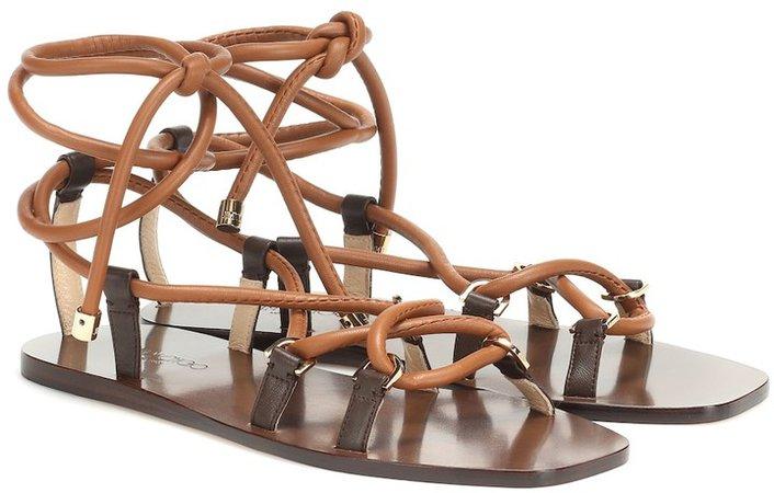 Aziza Flat leather sandals