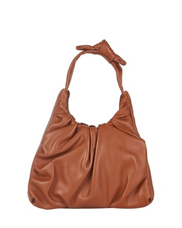 STAUD Palm Ruched Leather Bag   INTERMIX®
