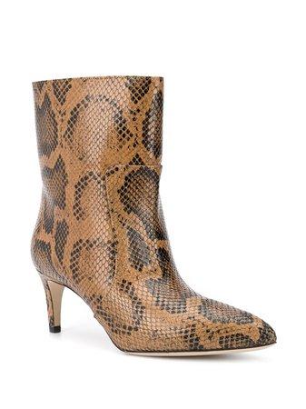 Paris Texas snakeskin-effect Ankle Boots - Farfetch