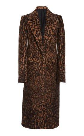 Leopard-Printed Sherpa Coat By Marina Moscone   Moda Operandi
