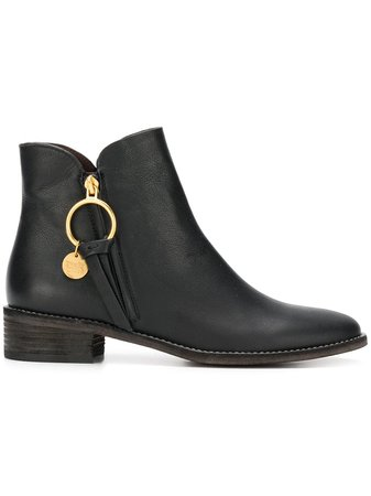 See By Chloé Louise flat ankle boots $425 - Buy AW18 Online - Fast Global Delivery, Price