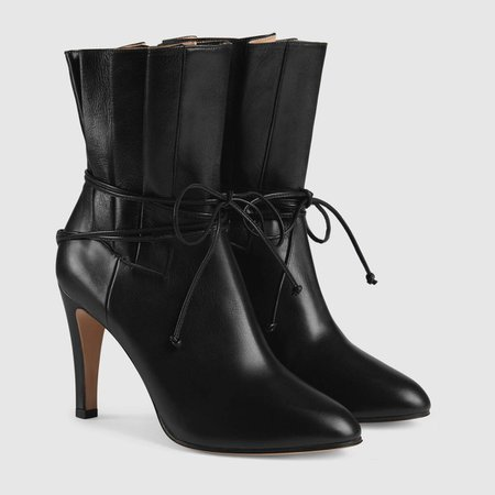 black leather Leather ankle boot | GUCCI® US