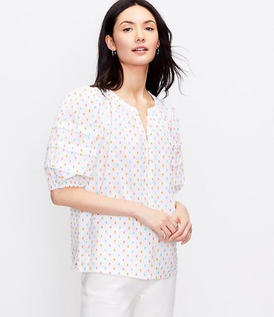 Clip Puff Sleeve Top